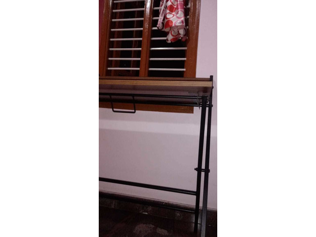 Study Table foldable brand new with full pacakage nilkamal brand walnut colour in good condition. A. - 7/10