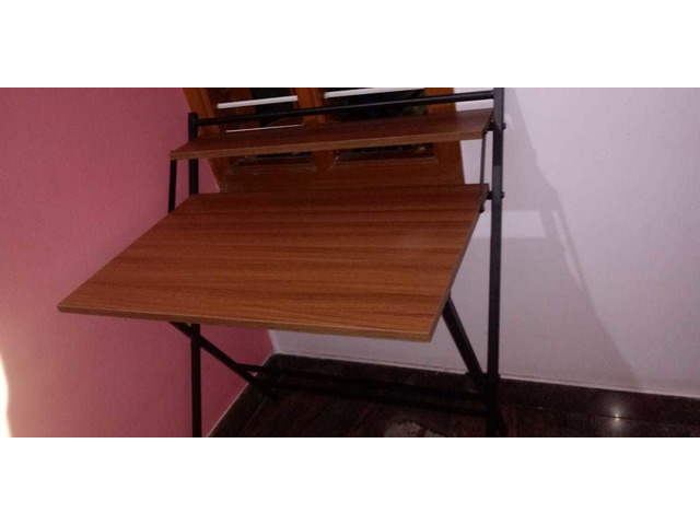 Study Table foldable brand new with full pacakage nilkamal brand walnut colour in good condition. A. - 9/10