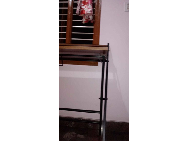 Study Table foldable brand new with full pacakage nilkamal brand walnut colour in good condition. A. - 10/10