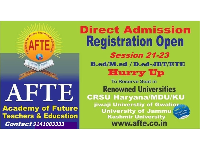 Direct Admission in B.ED/M.ED/D.EL.ED and other courses with discount - 1/1