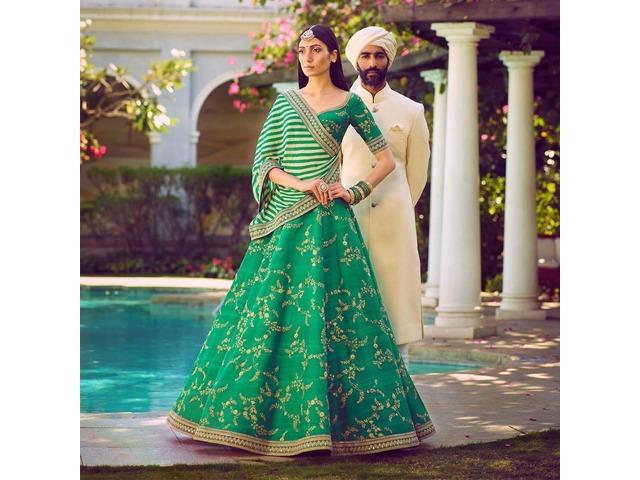 Buy the Latest Bridal lehengas  @vadhucreations.com - 3/4